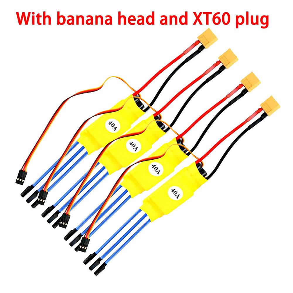 40A Brushless ESC Banana Head XT60-plug for Multi-axis Aircraft Accessories