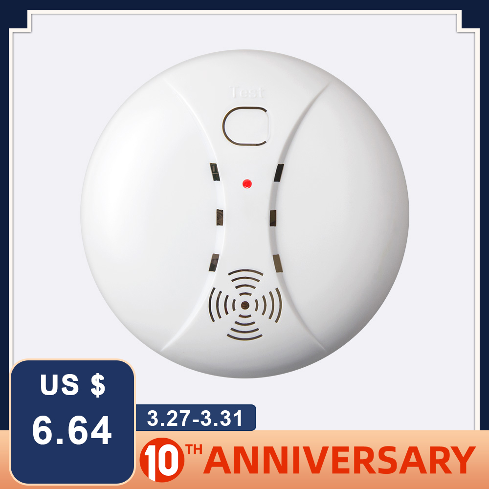 FUERS Alarm-Sensor Fire-Detector Smoke Smart Home-Security Low-Battery Wireless ASK Independent title=