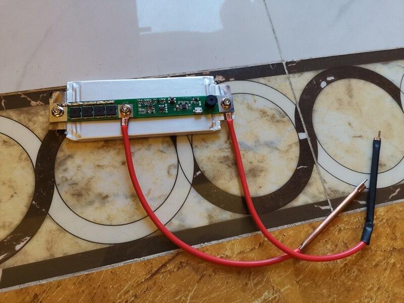 FITYLE DIY Mini Spot Welder Controller 18650 Lithium-Batterie Verschiedene Schwei/ß Netzteil 30cm Schwei/ßer Stift f/ür Super Capcitor LCD display Screen