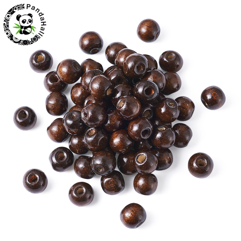 brown light wood and black wood beads 4mm mixed colour wooden beads 500