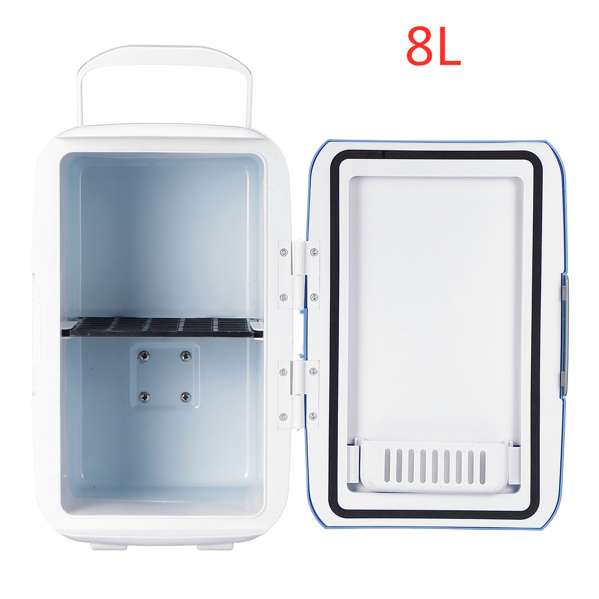 Coolbox For Traveling And Camping Portable Car Cool And Warm Electric Cool Box Luminiu Car Refrigerator 4l Dual Voltage Car Refrigerator For Car And Home