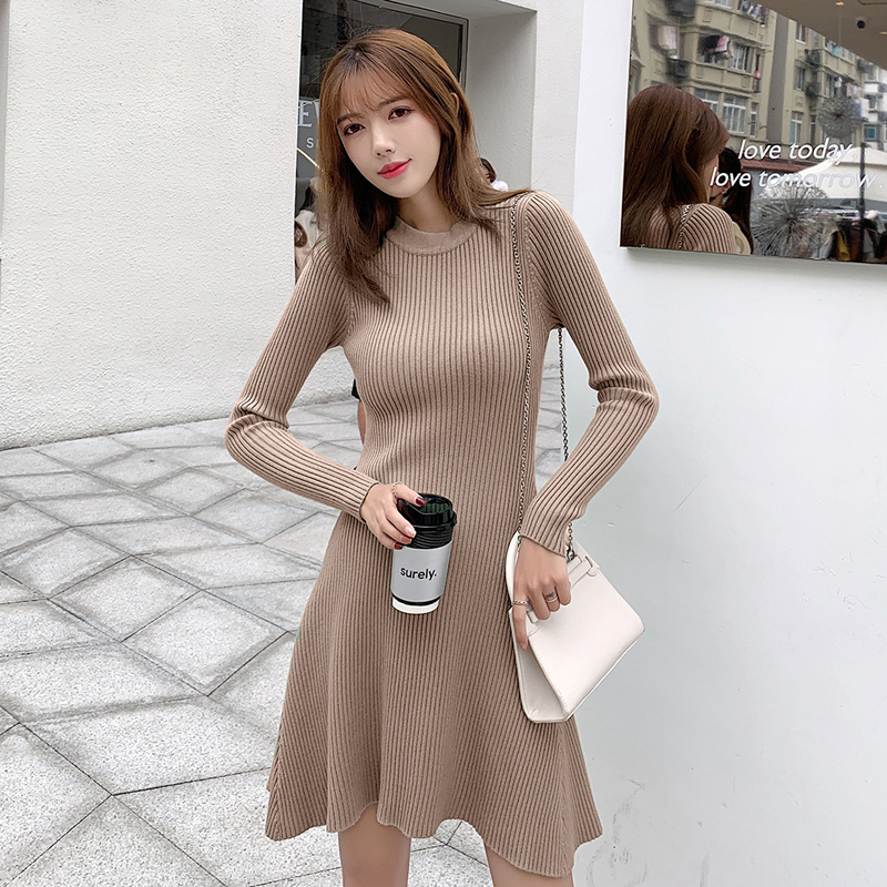 Women Long sleeve O-Neck Casual Knitted Sweater Bodycon Irregular Loose Sweater