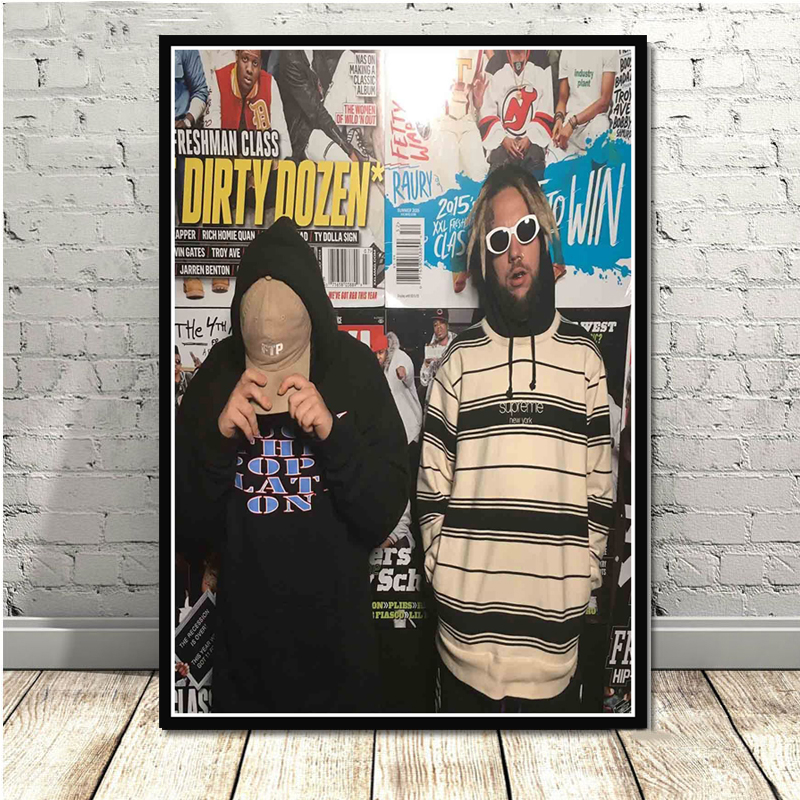 Y262 $uicideboy$ Custom Rap Music Group Star Singer Silk Canvas Poster 30 24x36