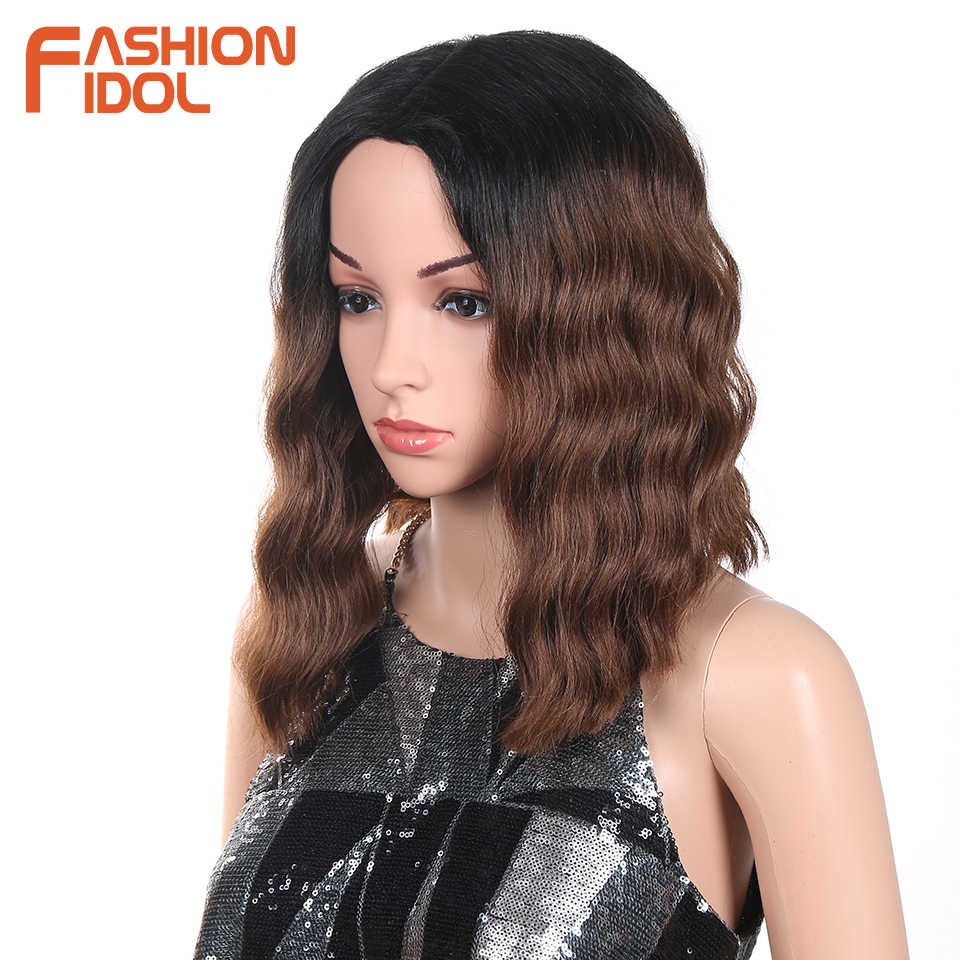 Fashion Idol Short Hair Wig Synthetic Loose Wave Shoulder Length Hair Ombre Heat Resistant Synthetic Bob Wigs For Black Women Synthetic Lace Wigs Aliexpress