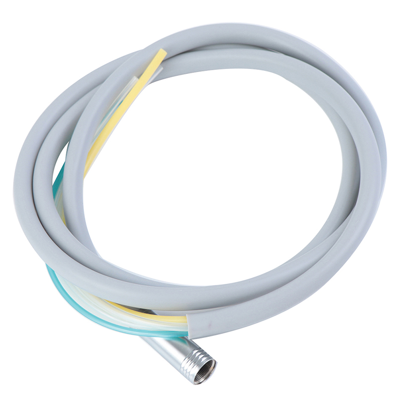 Dental 4 Holes Handpiece Hose Tube With Connector For High/Low Speed Handpiece Material