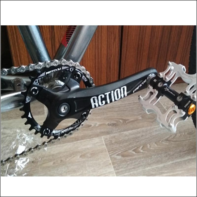 IXF 104//64BCD Crankset 170mm MTB Crank 30-42T Narrow Wide Single Alloy Chainring