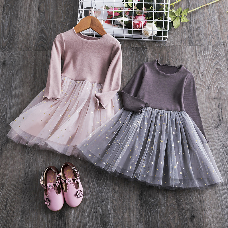 Baby Girls Dress Outfit Cute Long Sleeve Fox Print Princess Fall Winter Skirt Tutu Clothes Outfit Sets