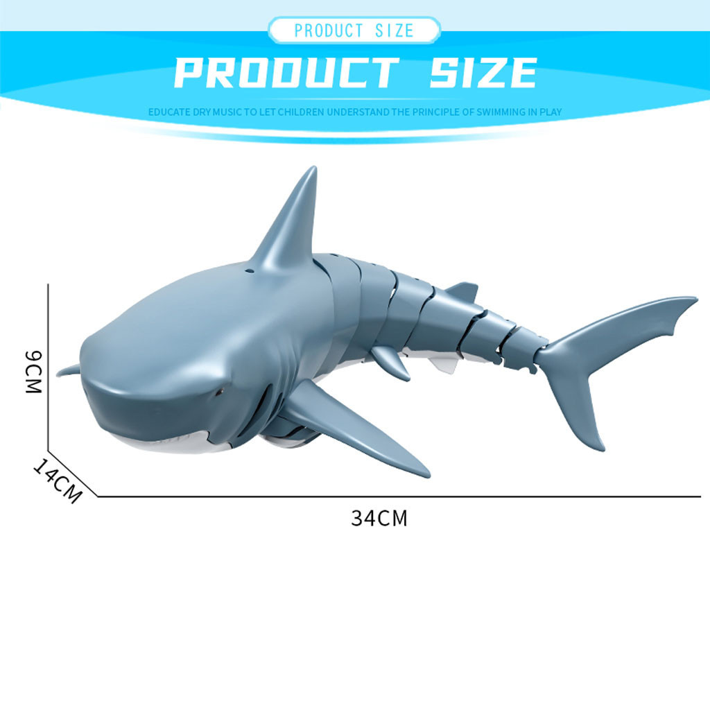 Animal - Radio Remote Control Toys Electronic Shark Fish Boat Durable 4 Channel Underwater Toy