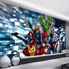 Wall-Murals Decoration-Film Canvas Bedroom Custom 3d Waterproof for Kids Poster Cafe-Bar