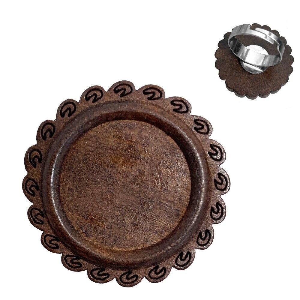 木质戒指正面