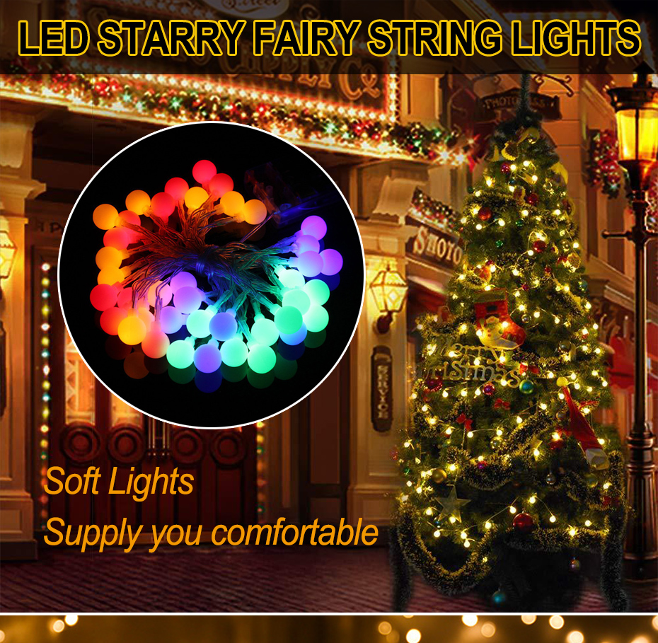 600 Multi-colour LED Xmas Lights Indoor Outdoor Christmas Decoration Battery Run