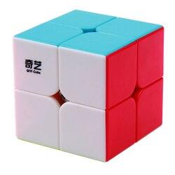 QIYI QIDI 2X2X2 магический скоростной куб, карманная головоломка, профессиональный Кубик Рубика 2x2, скоростной куб, Обучающие забавные игрушки для...