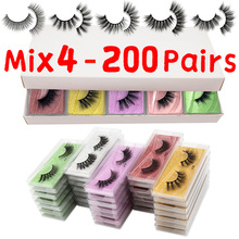 MB Eyelashes Wholesale 40/50/100/200pcs 6D Mink Lashes Natural False Eyelashes Long Set faux cils Bulk Makeup wholesale lashes