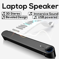 Laptop/Computer/PC Speakers 15 Degree Angle Design 3D Stereo Immersive USB Audio Power Supply Stick Music Player Soundbar