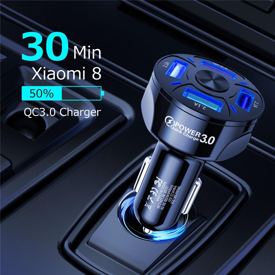 Carregador Veicular Turbo Ultra Rápido 3.0A 4 Saídas Usb