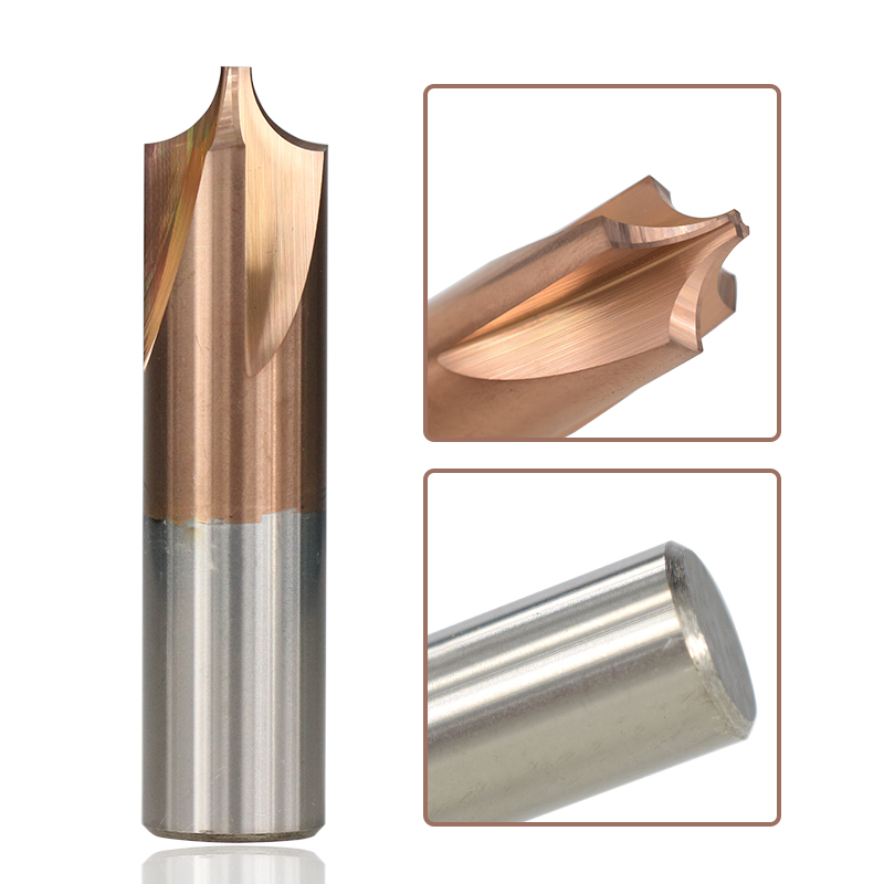 XCAN Corner Rounding Milling Cutter 1pc TiCN Coated Carbide End Mill R0.5-R5.0 CNC Machine Router Bit