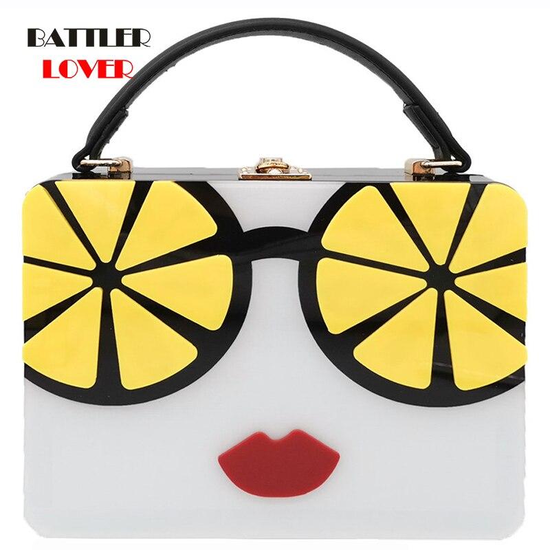 Bags for Women 2020 Fashion Women Evening Bag Ladies Acrylic Clutches Box Elegant Shoulder Bag Crossbody Wallet Cartoon Handbag