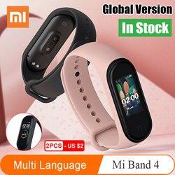 Xiaomi Mi Band 4 глобальная Версия смарт-браслет miband 4 браслет сердечного ритма фитнес цветной экран Bluetooth 5,0 версия CN