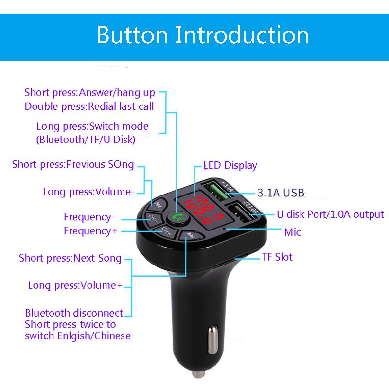 E0069 FM Modulator Car MP3 Player