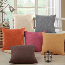 Cushion Chair Sofa-Decoration Back-Pillow Linen Living-Room Green-Coffee Yellow Car Red