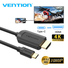 Vention USB C к HDMI кабель 4K Тип c HDMI Thunderbolt 3 адаптер для MacBook Samsung Galaxy S10/S9 Huawei Xiaomi Type c к HDMI(Китай)