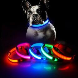 Зарядка через usb светодиодный ошейник для собак, функция