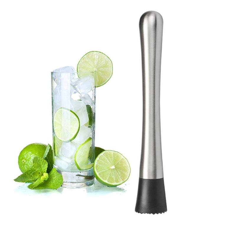 Cocktail Blender Stainless Steel Cocktail Bar Ice Crusher Muddler Tool 20*3.3CM
