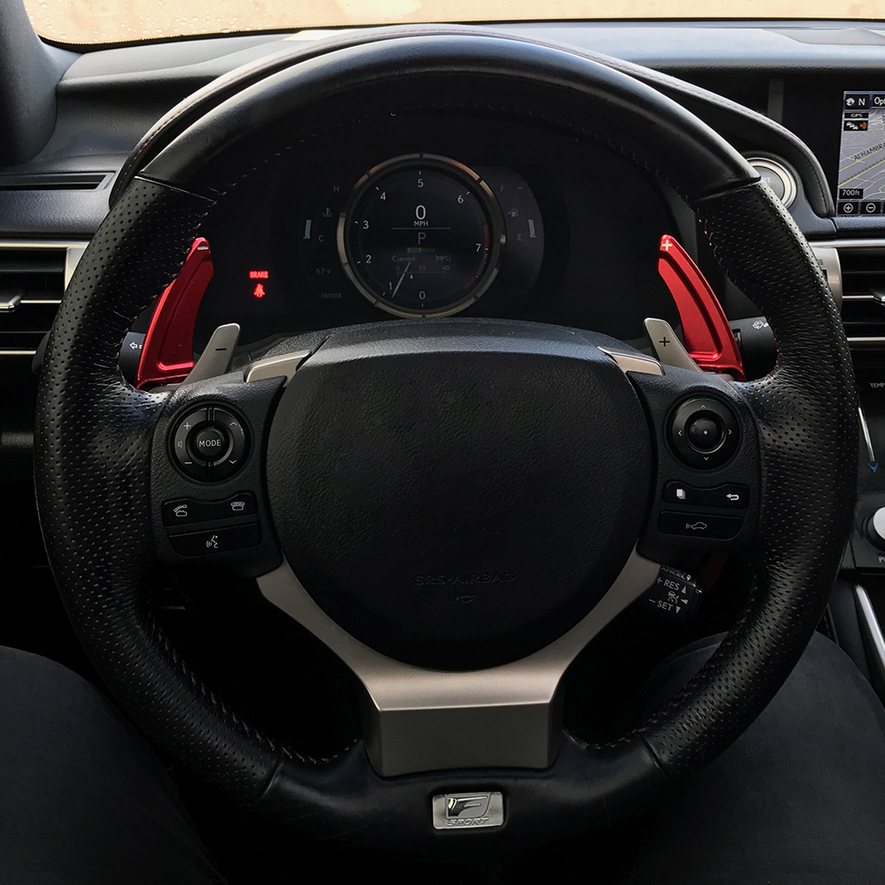 Pair Car Steering Wheel Shift Paddle Shifter Extension Trim Fits Lexus RC NX IS