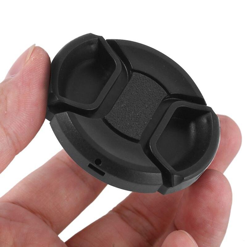 Wivarra Universal 46mm Tapa de Lente Frontal de pellizco de Centro para DSLRCamara