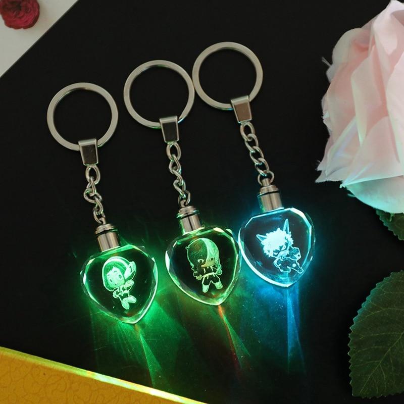 Boku No Hero Academia LED Pendant Keychain Keyring Charm Anime Key Chain