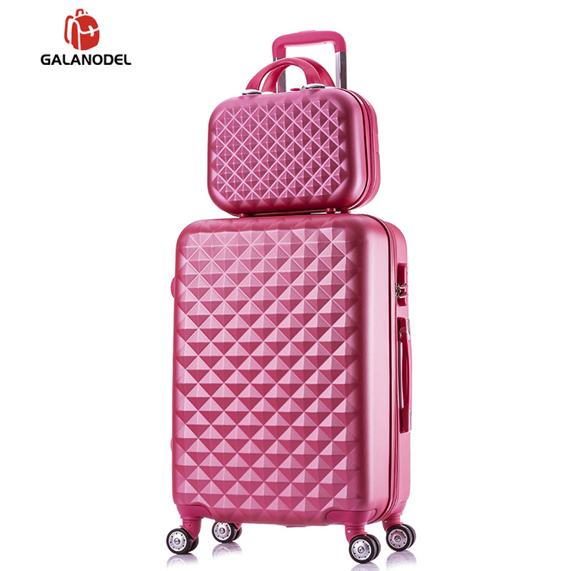 Trolley-Case Cosmetic-Bag Spinner Password-Luggage Travel Fashion Woman Students 2pcs/Set title=