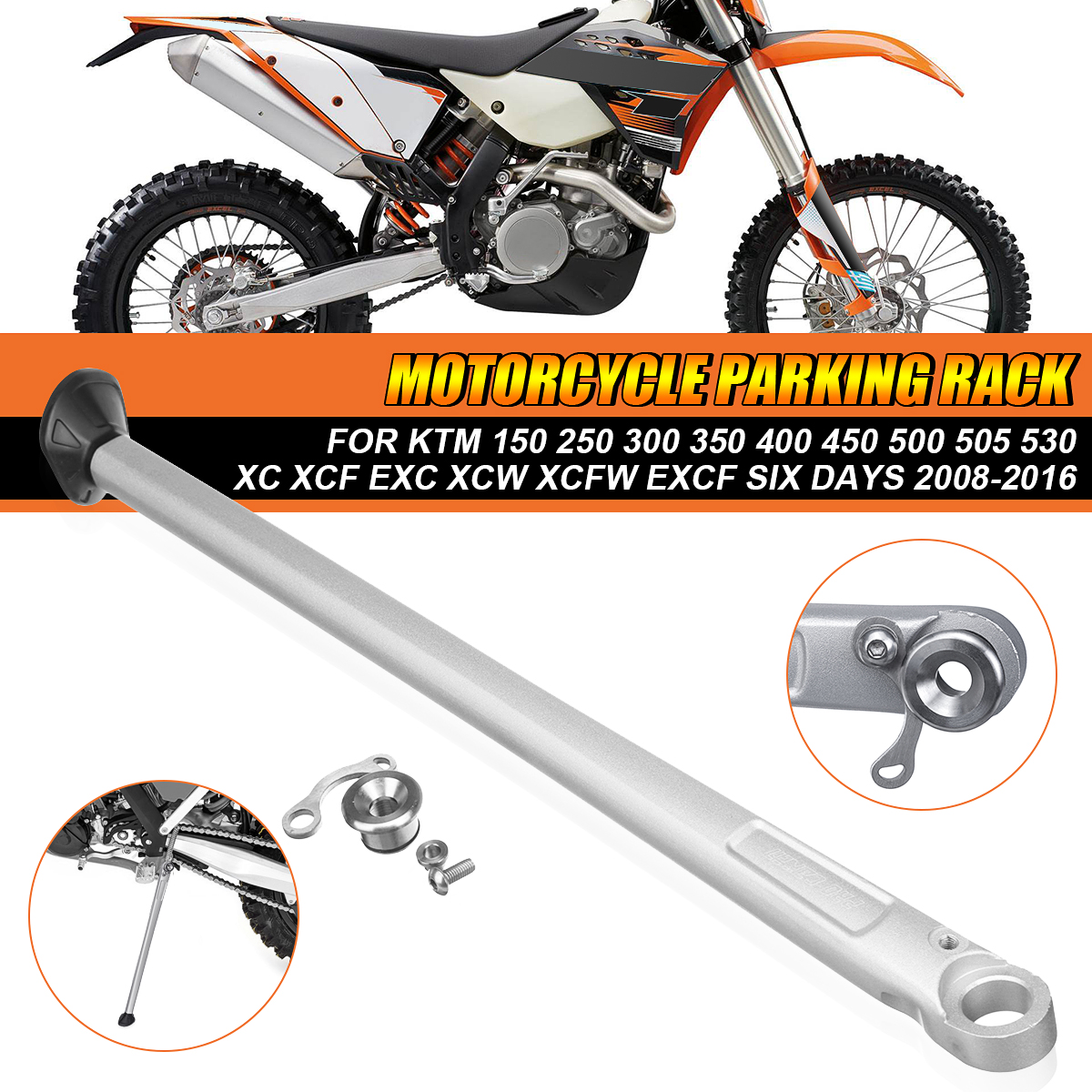7075 Aluminum Alloy Forged Kickstand Side Stand For KTM Husqvarna Husaberg XC XCF XCW XCFW EXC EXCW EXCF SIX DAYS XCR FE TE 125 150 200 250 300 350 390 400 450 570 500 501 530 Dirt Bike Black