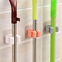 Hook Hanger Shelf-Organizer Mop-Rack Broom-Holder Wall-Mounted Household