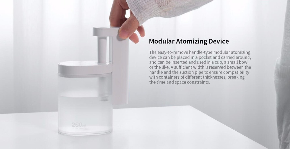 Xiaomi Sothing Desktop humidifier Ultrasound mute USB charge 260ML Transparent Tank Two humidification modes Desktop Diffuser (5)