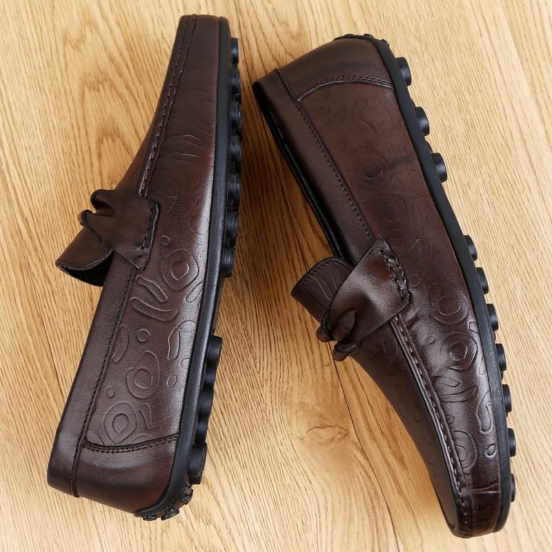 Luksusowe marki mężczyźni skórzane formalne buty do biura męskie biurowe pracy płaskie buty Oxford oddychające wesele buty Peas % 8558 -
