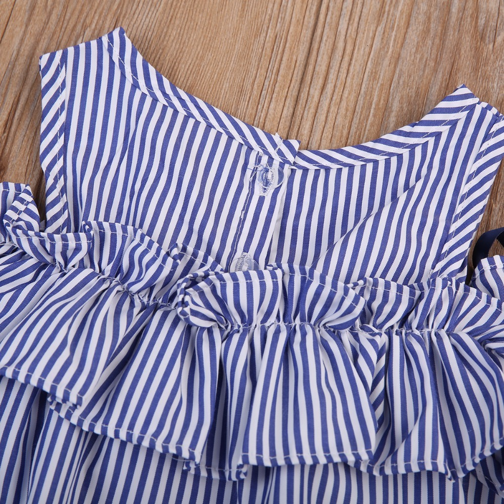 2018-new-Hot-Summer-Toddler-Kids-Baby-Girls-lovely-Clothes-Blue-Striped-Off-shoulder-ruffles-Party (4)