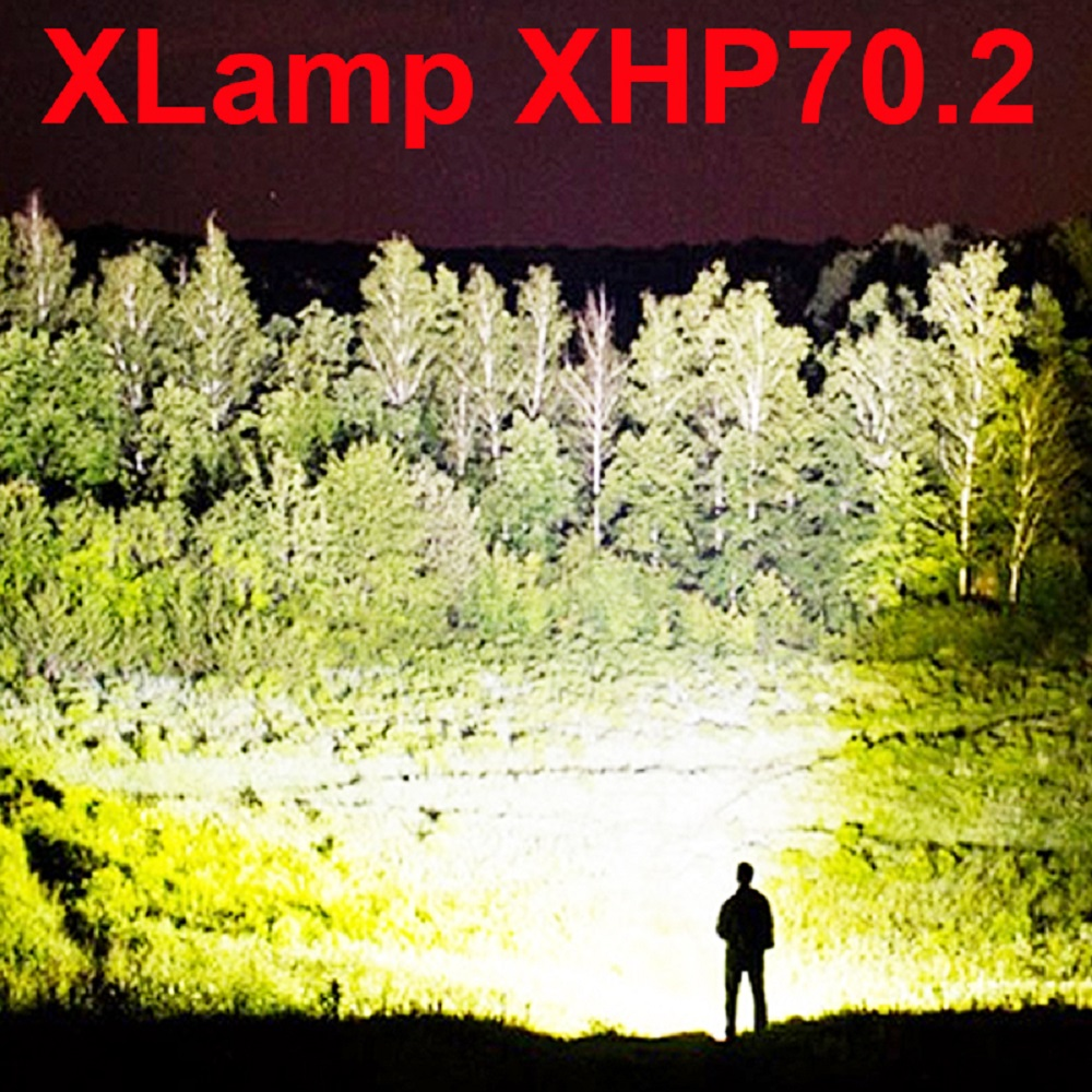 High Power 90000 Lumens XHP50 Zoom Flashlight LED Rechargeable Lamp Torch SR