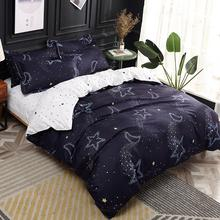 Pillowcases Bed-Cover-Set Comforter Star Printed Girl Adult Child Boy J-Moon 61036 4pcs
