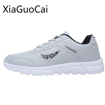 Autumn and Spring Velvet Mens Sneakers Shoes Lightweight Soft Leather Mens Casual Shoes Breathable Summer Shoes