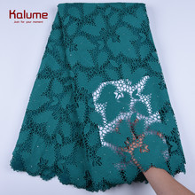 Lace-Fabric Cord Dress Guipure Tulle Stones Nigerian French F1668 African High-Quality