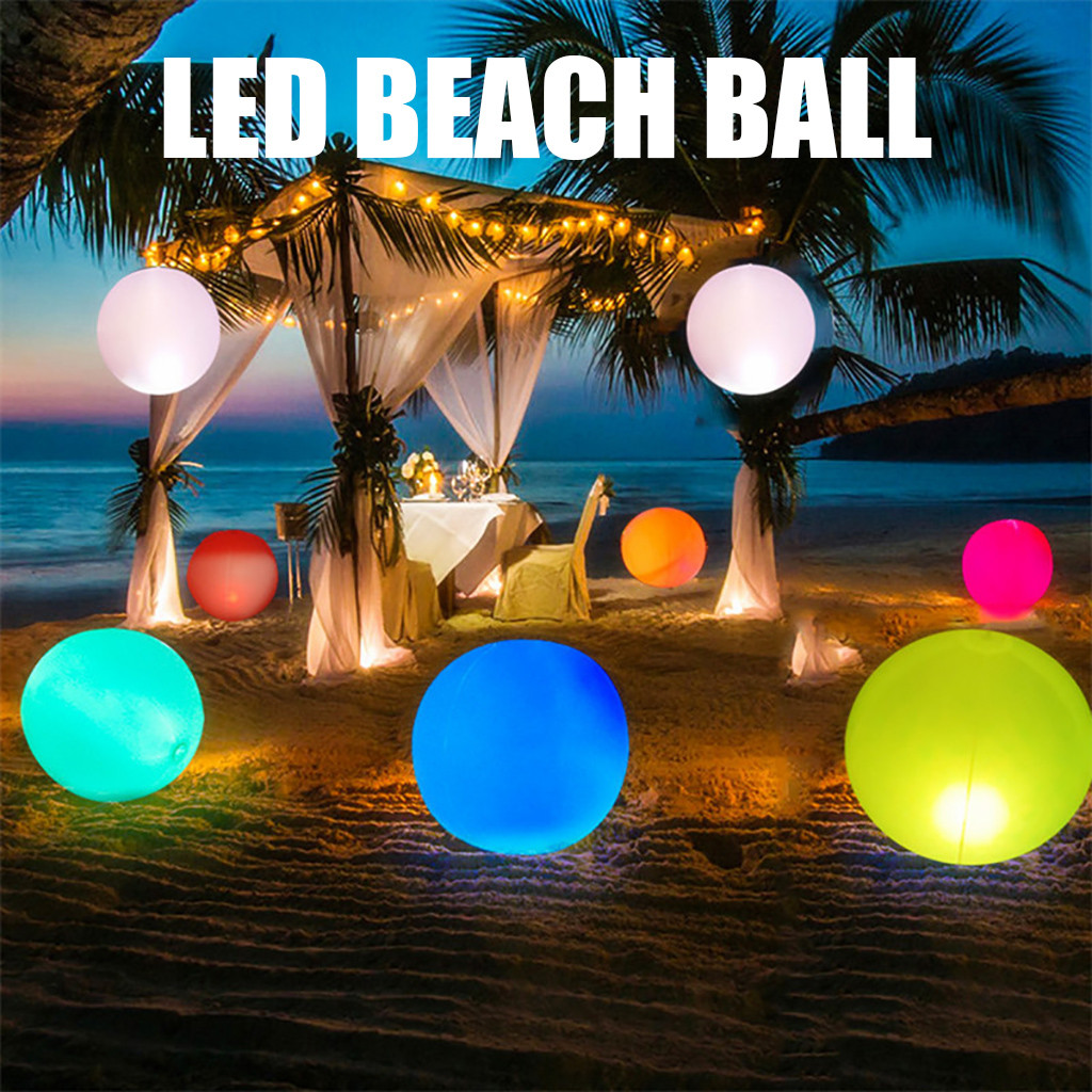 Art - Rechargeable LED Swimming Pool Floating Ball Lamp Waterproof Outdoor Home Wedding Garden KTV Bar Holiday Party Decoration