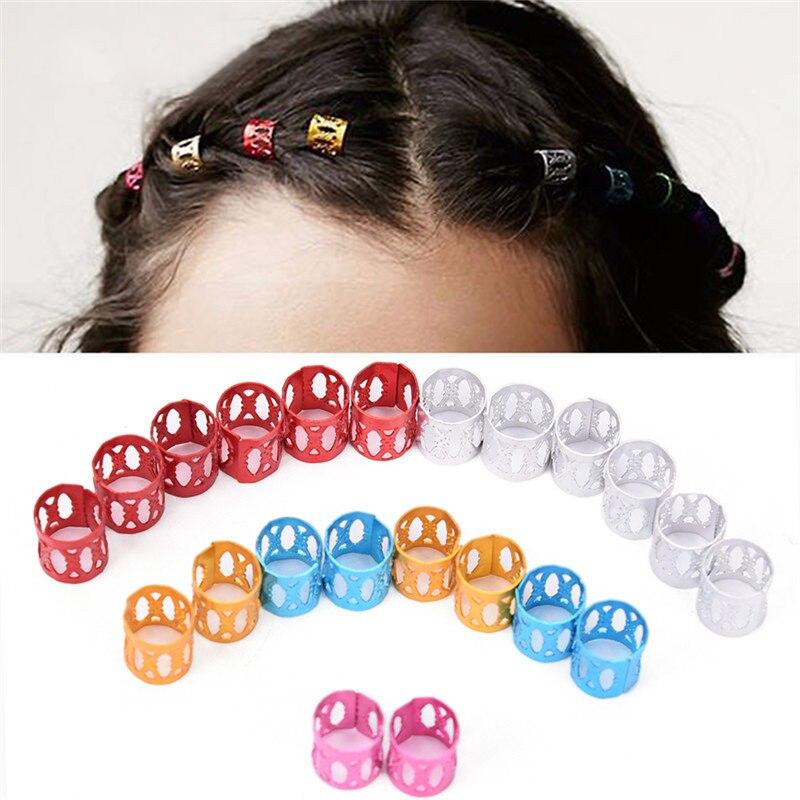 10Pcs Braiding Hair Rings Dreadlock Marley Braids Beads Clips Cuffs RhinestoneUE