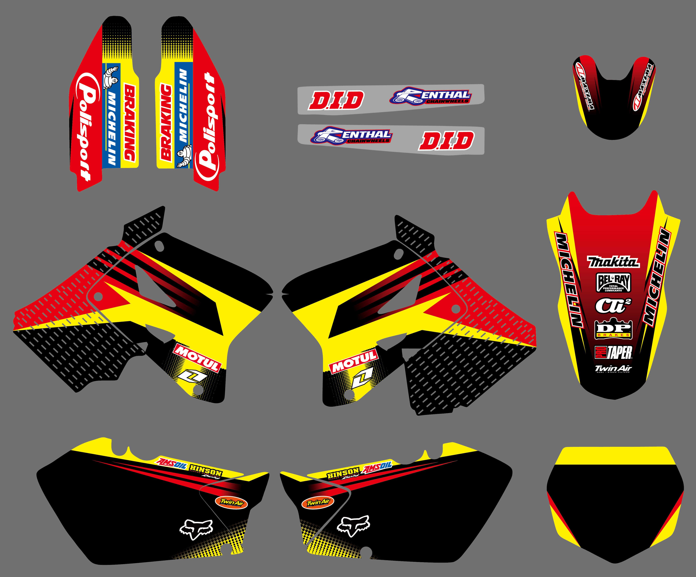 Graphics Background For Suzuki RM125 RM250 01 02 03 04 05 06 07 2008 09 10 11 12