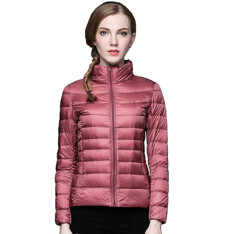 Winter Women Ultra Light Down Jacket 90% Duck Down Stand Collar Jackets Long Sleeve Warm Slim Coat Parka Female Portabl Outwear