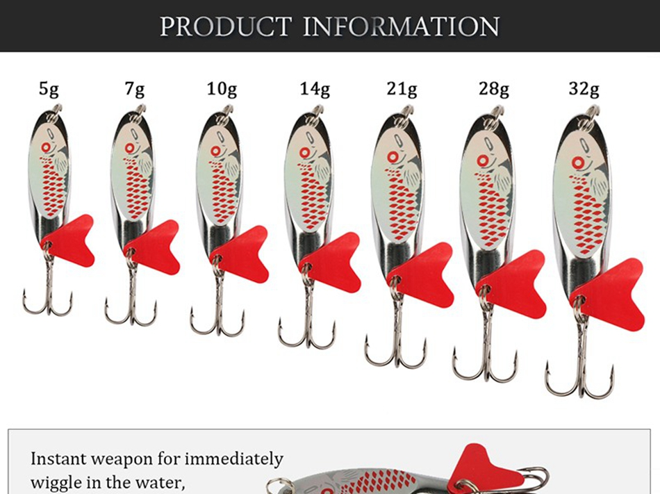 spinner bait fake lure pike wobblers carp fishing tackle (3)