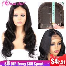 Closure Wig Hair Body-Wave Jazz Star Non-Remy 4x4 Lace Baby Pre-Plucked Brazilian 150%Density
