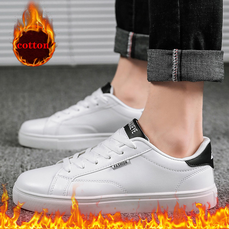 Shoes Sneakers White-Plus Casual Men's Cheap Brand Zapatillas Cotton Fashion Hombre title=