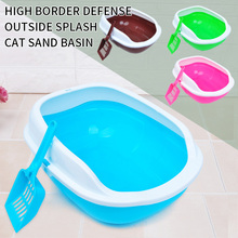Cat-Litter-Box Pet Toilet Anti-Splash-Toilette Sandbox Home Plastic with Puppy Indoor