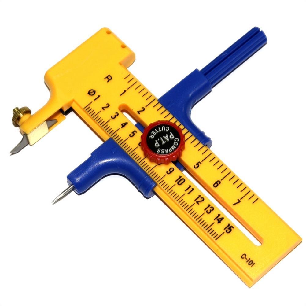 Compass Circle Cutter Paper Rubber Trimmer Circular Cutting Scrapbook Tools