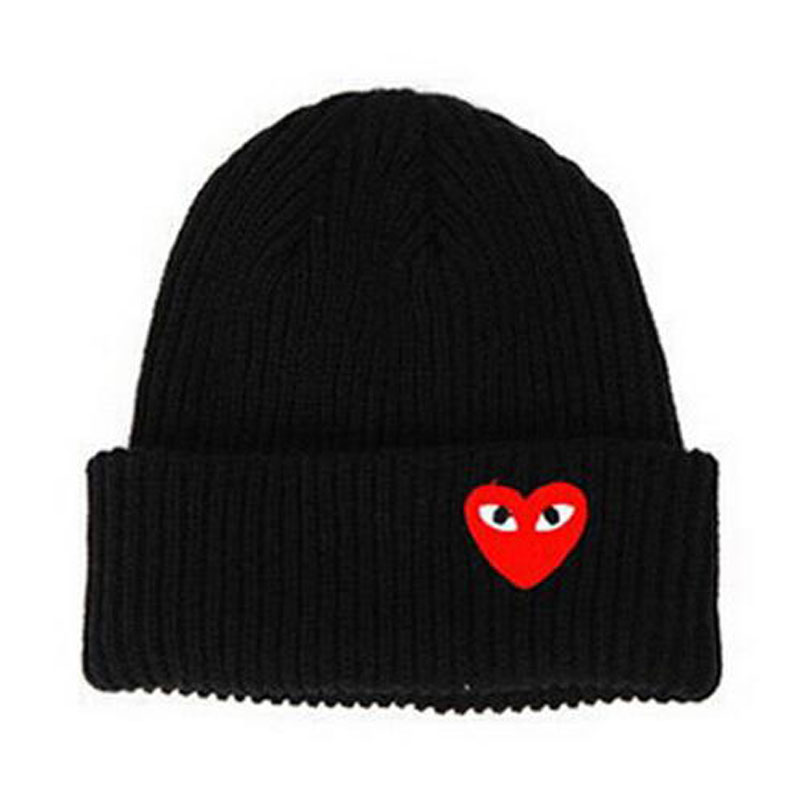 Man Hat Beanies Crochet-Cap Knit-Hat Label Skullies Warm Heart-Eyes Winter Woman Cartoon title=